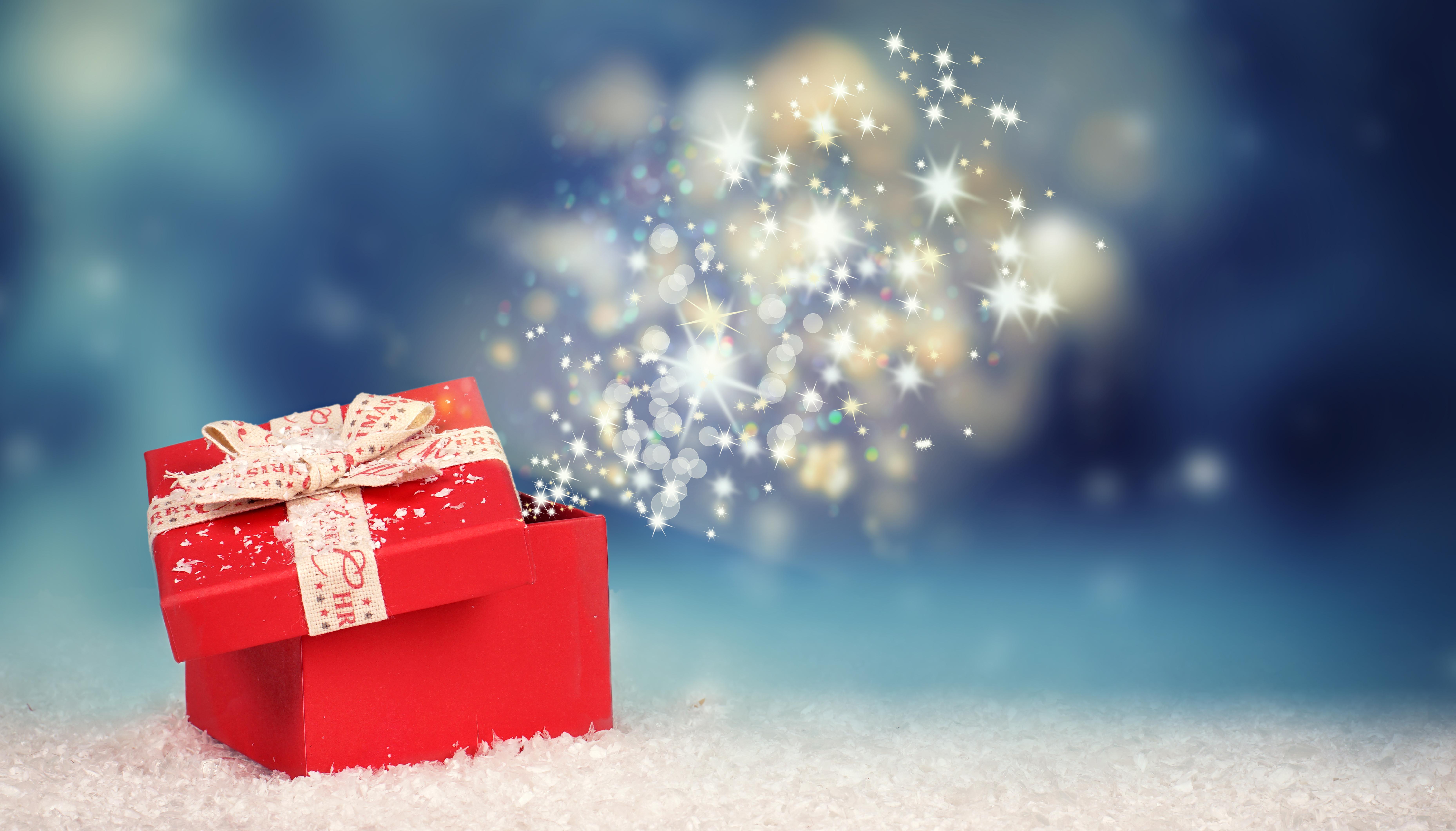 Weihnachtsberraschung - leuchtendes Weihnachtsgeschenk